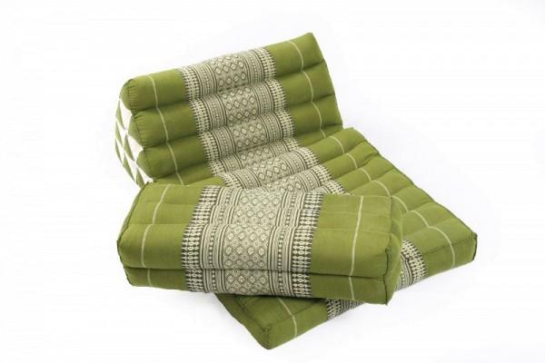 Thaikissen Set: Dreiecksmatte + Kissen (bambusgrün)