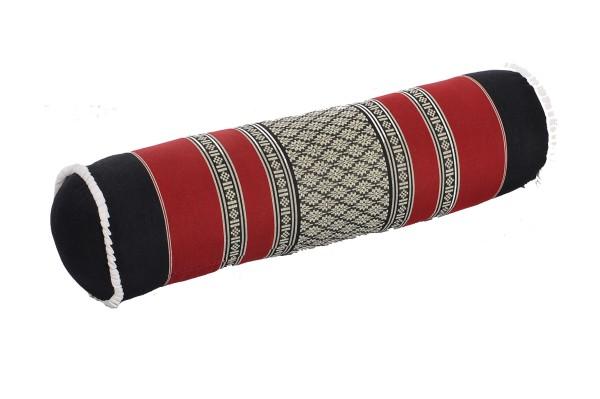 Nackenrolle 50x13x13 cm (schwarz & rot)