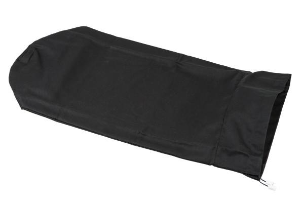 Bezug für Kissenrollen Baumwolle (schwarz)