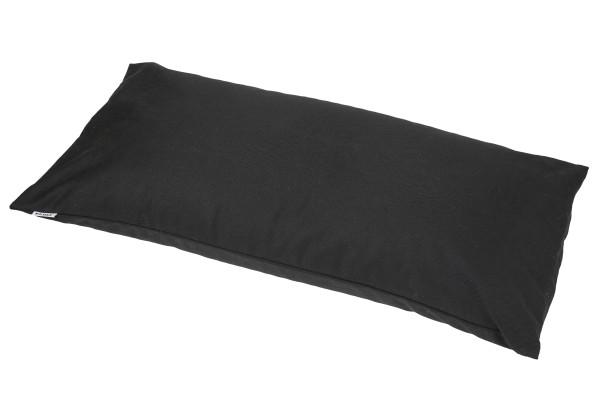 Kissen Baumwolle/Buchweizen mit abnehmbarem Bezug 80x40 cm (schwarz)