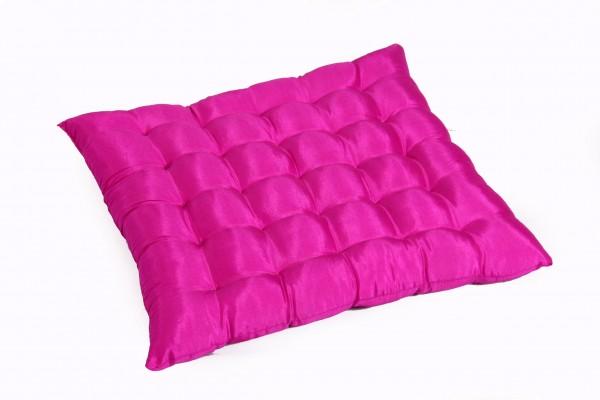 Sitzkissen Satin 38x40 cm (pink)