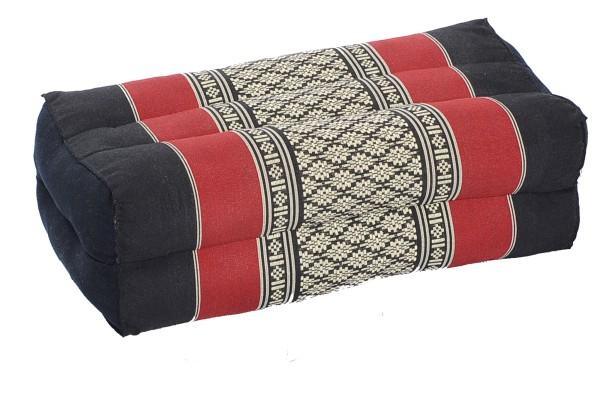 Kapokkissen Block 35x15x10 cm (schwarz & rot)