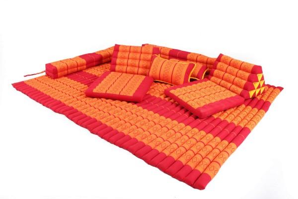 Thaikissen Set (rot-orange)