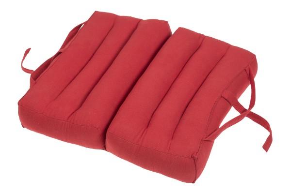 Falt- und tragbares Sitzkissen 40x40x7 cm (rot) aufgeklappt
