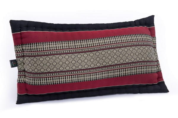 XL Sofakissen mit Kapokfüllung ca. 60x32 cm (schwarz-rot)