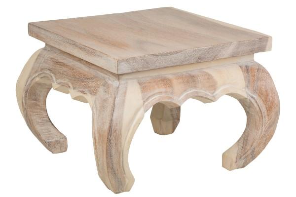 Opium Tisch antik weiß (35 x 35 x 30 cm)