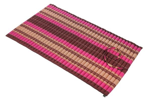 Thaikissen Rollmatte 200x100 cm (burgunder & pink) offen
