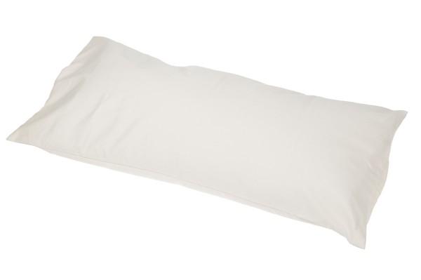 Kissen Baumwolle/Buchweizen mit abnehmbarem Bezug 80x40 cm (weiß)