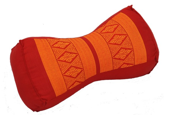 Thai-Nackenkissen 30x15x10 cm (rot & orange)