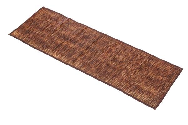 Thai Schilfgrasmatte 200 x 60 x 0,7 cm (braun-orange) ausgerollt