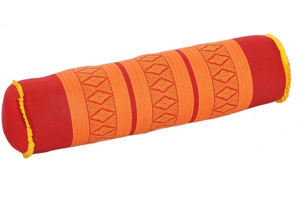 Nackenrolle 50x13x13 cm (rot & orange)