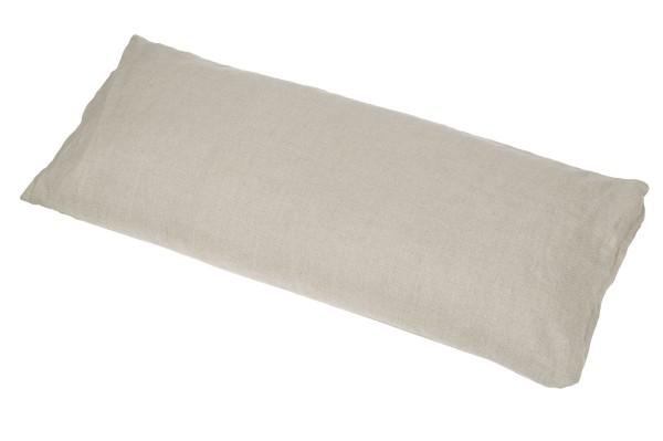 Kissen Baumwolle/Buchweizen mit Bezug 80x40 cm (natur)