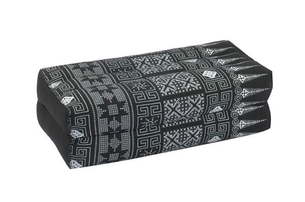 Kapokkissen Block 35x15x10 cm (schwarz & weiß)