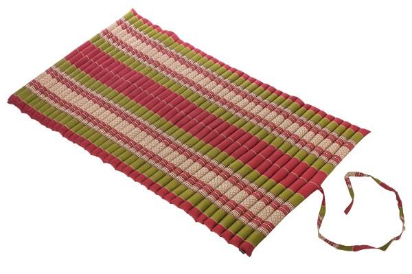 Thaikissen Rollmatte 200x100 cm (grün & rot) offen