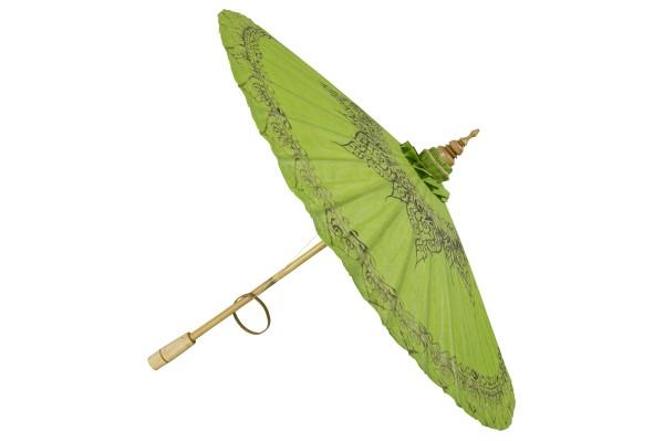 Handbemalter Dekoschirm aus Thailand (grün)