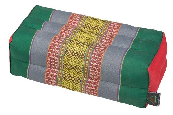 Kapokkissen Block 35x15x10 cm (grün & bunt)