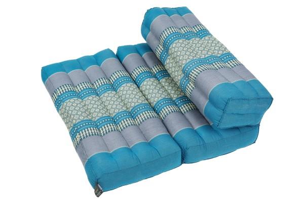 Faltbares Meditationskissen 50x15x10 cm (Blautöne)