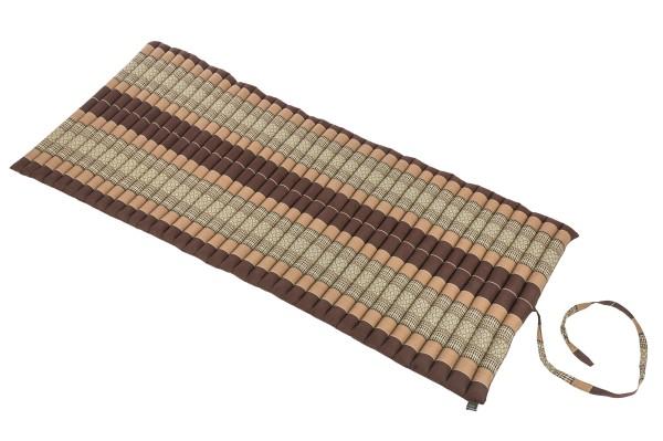 Rollbare Kapokmatte 200x80 (erdtöne) offen