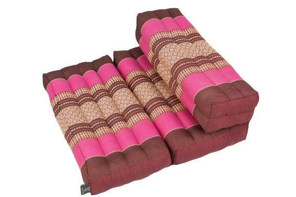 Faltbares Meditationskissen 50x15x10 cm (burgunder & pink)