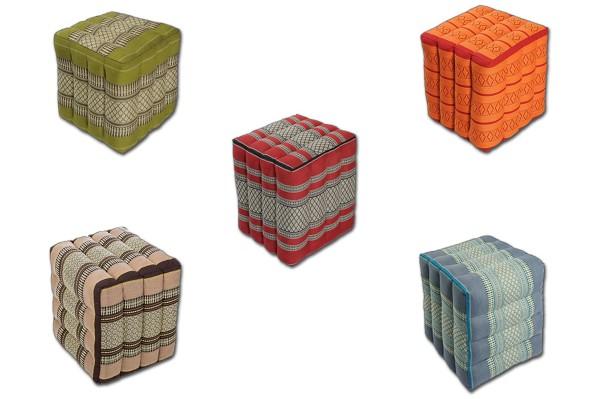 Würfelförmiges Kissen 40x40x40 cm verschiedene Farben
