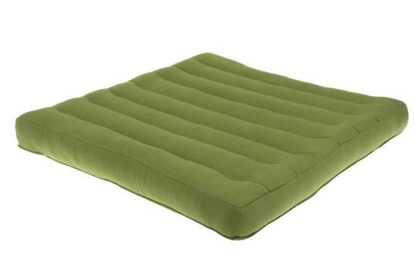 Großes Sitzkissen Naturbaumwolle 50x50x5 cm (grün)