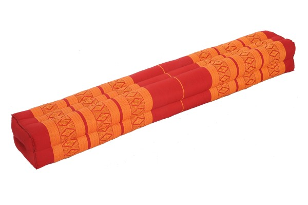 Rechteckiges Kissen 110x15x10 rot & orange