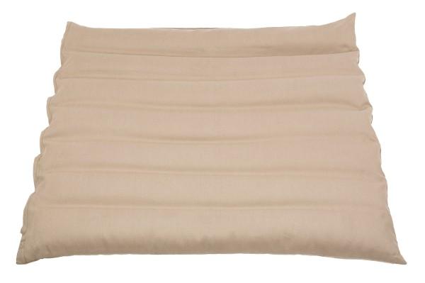 Zabuton mit Buchweizenfüllung ca. 70x70 cm (sandgrau)